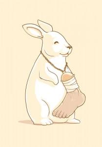 Such a lucky rabbit.